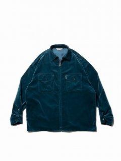 COOTIE Velour Zip Up Work Shirt