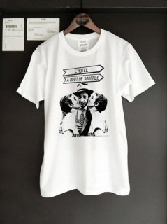 """WRIGHT L'Hotel """"A bout de soffle"""" 5.6 oz Heavy Weight T-shirt"""