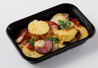 サラミとポテトのチーズ焼き