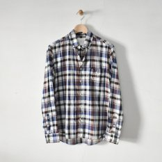 h.b b.d. shirts cotton ramie check