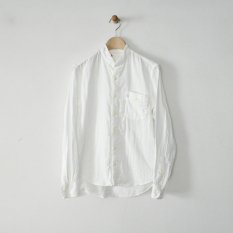 h.b stand collar shirts double gauze
