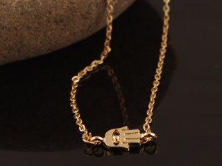 【ファティマの手】ゴールドネックレス