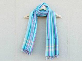 【キコイ】 ブルー系 ストライプ 東アフリカ伝統布