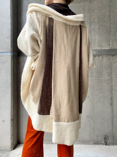 【1980s PLEATS KNIT CARDIGAN】