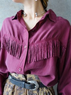 【FRINGE SILK SHIRT】