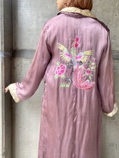 【1950s SILK CHINA ROBE】