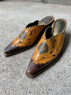 【LEATHER WESTERN SHOES】