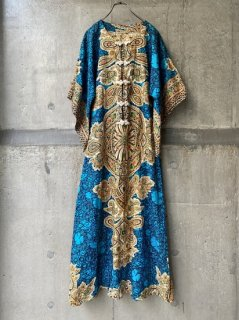 【1970s KAFTAN DRESS BLUE】
