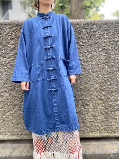 【Import】DENIM CHINA COAT