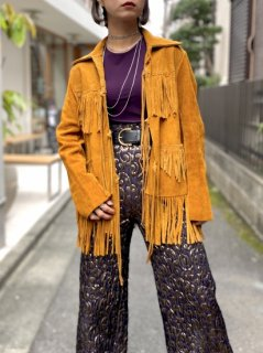 【1970s FRINGE LEATHER JACKET】