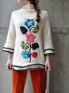 【1960s DESIGN KNIT SWEATER】