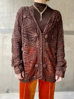 【BROWN LACE BLOUSE】