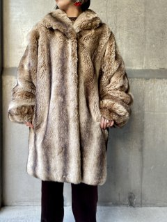 【FAUX FUR GOWN COAT】