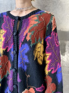 【LEAF MOTIF KNIT CARDIGAN】