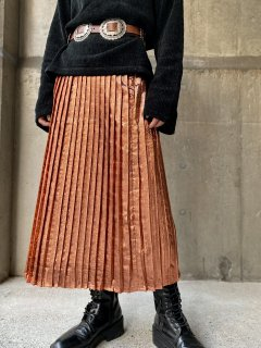 【METALLIC PLEATS SKIRT】