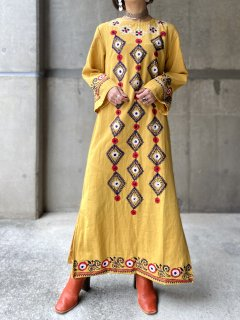 【1960-70s  PAKISTAN COTTON MAXI DRESS】