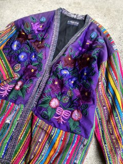 【FLOWER EMBROIDERED GUATEMALAN JACKET】