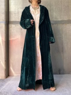 【MOSS GREEN VELVET LONG GOWN】