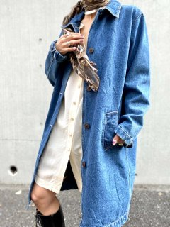 【SIMPLE DENIM COAT】