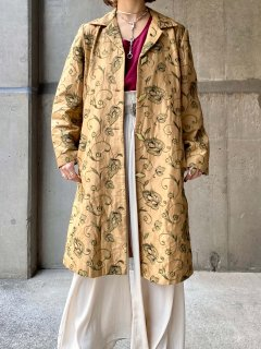 【FLORAL EMBROIDERY SILK SPRING COAT】