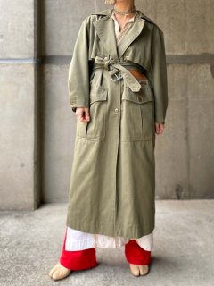 【MILITARY DESIGN TRENCH COAT】