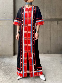 【ETHNIC  BLACK MAXI DRESS】