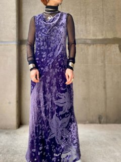 【SHERR×VELVET PURPLE MAXI DRESS】