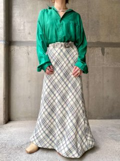 【1970s CHECKED MAXI SKIRT】