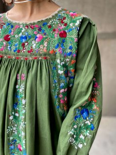 【San Antonino EMBROIDERY COTTON DRESS】
