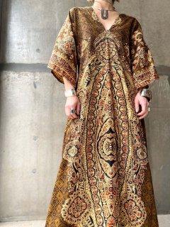 【1970s BATIK MAXI DRESS】