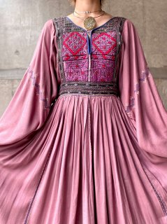 【AFGHAN DRESS DUSTY PURPLE】
