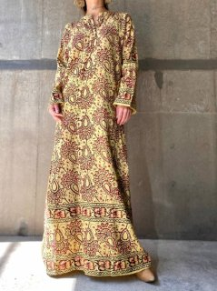 【1970s INDIA COTTON BOHO DRESS】