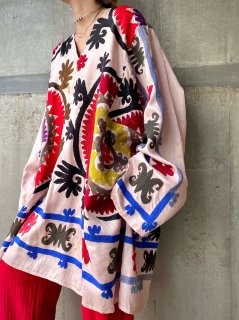 【UZBEK EMBROIDERED TUNIC】