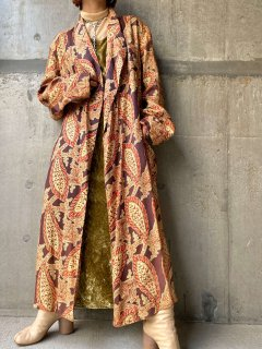 【BOHO PATTERN LONG GOWN】