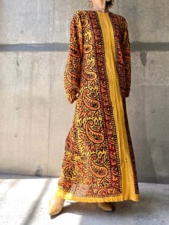 <img class='new_mark_img1' src='https://img.shop-pro.jp/img/new/icons14.gif' style='border:none;display:inline;margin:0px;padding:0px;width:auto;' />【1970s PAISLEY BOHO DRESS YELLOW】