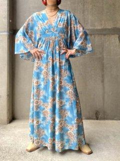 【1970s FLORAL MAXI DRESS 】