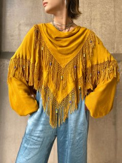 【COTTON GAUZE FRINGE TOP FROM MOROCCO】