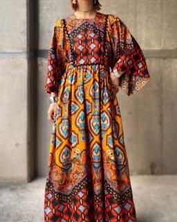 【1970s BOHO DESIGN MAXI DRESS】