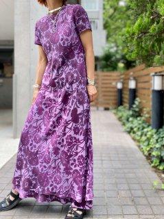 【1990s FLORAL MAXI DRESS PURPLE】