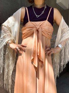 【1970s RIBBON DESIGN JERJEY DRESS】