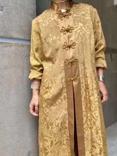 【CHINESE DESIGN LONG BLOUSE GOLD】