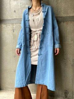 【Import Select Item】CHINESE DESIGN DENIM COAT LIGHT BLUE
