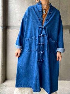 【Import Select Item】CHINESE DESIGN DENIM COAT INDIGO BLUE
