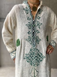 【1970s MOROCCAN EMBROIDERED DRESS】