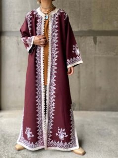 【1960s MORROCCAN EMBROIDERED GOWN】