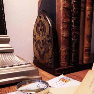 本のための贅沢な携帯スタンド/Antique Mahogany Book Slide