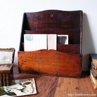 緑の黄金・マホガニーのレターラック/Antique Mahogany Letter Lack