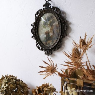 Miniature Painting with Oval Frame