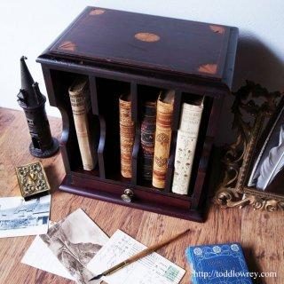 Antique Inlaied Mahogany Message Box