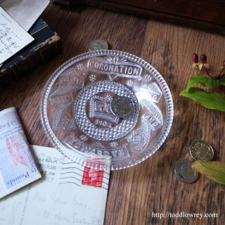 Edward � Coronation Antique Glass Plate